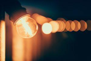row of illuminated light bulbs signifying personal values